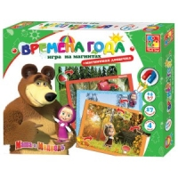 Игра на магнитах Времена года Маша и медведь